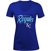 5th & Ocean Women's Kansas City Royals Royal V-Neck T-Shirt