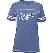 5th & Ocean Women's Kansas City Royals Royal Tri-Blend Scoop Neck Shirt