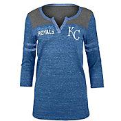 5th & Ocean Women's Kansas City Royals Royal Three-Quarter Sleeve Shirt