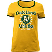 5th & Ocean Women's Oakland Athletics Gold T-Shirt