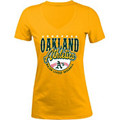 5th & Ocean Women's Oakland Athletics Gold V-Neck T-Shirt