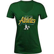 5th & Ocean Women's Oakland Athletics Green V-Neck T-Shirt