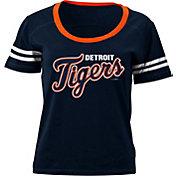5th & Ocean Women's Detroit Tigers Navy Scoop Neck Shirt