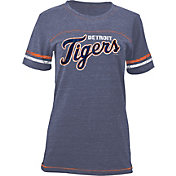 5th & Ocean Women's Detroit Tigers Navy Tri-Blend Scoop Neck Shirt