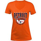 5th & Ocean Women's Detroit Tigers Orange V-Neck T-Shirt