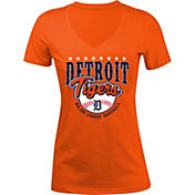 5th & Ocean Women's Detroit Tigers Orange V-Neck T-Shirt