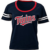 5th & Ocean Women's Minnesota Twins Navy Scoop Neck Shirt