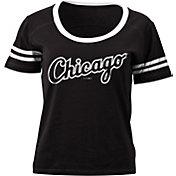 5th & Ocean Women's Chicago White Sox Black Scoop Neck Shirt