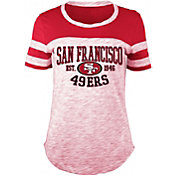 5th & Ocean Women's San Francisco 49ers Space Dye Red T-Shirt