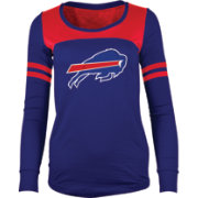 5th & Ocean Women's Buffalo Bills Glitter Royal Long Sleeve Shirt