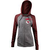 5th & Ocean Women's Kansas City Chiefs Tri-Blend Grey Full-Zip Hoodie