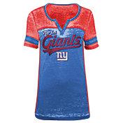 5th & Ocean Women's New York Giants Burnout Royal V-Neck T-Shirt