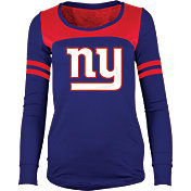 5th & Ocean Women's New York Giants Glitter Royal Long Sleeve Shirt