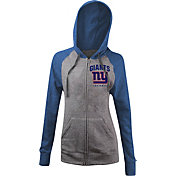 5th & Ocean Women's New York Giants Tri-Blend Grey Full-Zip Hoodie