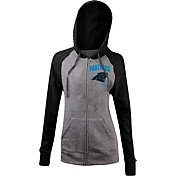 5th & Ocean Women's Carolina Panthers Tri-Blend Grey Full-Zip Hoodie