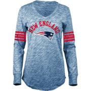 5th & Ocean Women's New England Patriots Space Dye Navy Long Sleeve Shirt