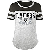 5th & Ocean Women's Oakland Raiders Space Dye Black T-Shirt