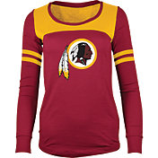 5th & Ocean Women's Washington Redskins Glitter Red Long Sleeve Shirt