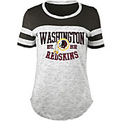 5th & Ocean Women's Washington Redskins Space Dye Black T-Shirt