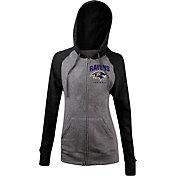 5th & Ocean Women's Baltimore Ravens Tri-Blend Grey Full-Zip Hoodie