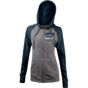 5th & Ocean Women's Seattle Seahawks Tri-Blend Grey Full-Zip Hoodie