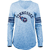 5th & Ocean Women's Tennessee Titans Space Dye Blue Long Sleeve Shirt