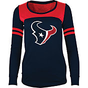 5th & Ocean Women's Houston Texans Glitter Navy Long Sleeve Shirt