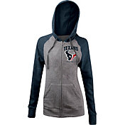 5th & Ocean Women's Houston Texans Tri-Blend Grey Full-Zip Hoodie