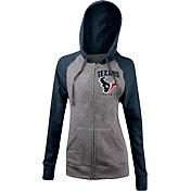 5th & Ocean Women's Houston Texans Tri-Blend Grey Full-Zip Hoodie