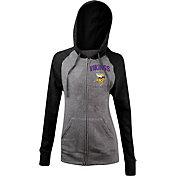 5th & Ocean Women's Minnesota Vikings Tri-Blend Grey Full-Zip Hoodie