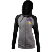 5th & Ocean Women's Minnesota Vikings Tri-Blend Grey Full-Zip Hoodie