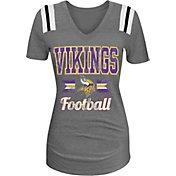 5th & Ocean Women's Minnesota Vikings Grey V-Neck T-Shirt
