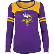 5th & Ocean Women's Minnesota Vikings Glitter Purple Long Sleeve Shirt
