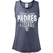 5th & Ocean Youth Girls' San Diego Padres Baseball Navy Tri-Blend Tank