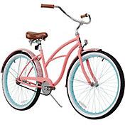 sixthreezero Women's Paisley Woman Single Speed Beach Cruiser Bike