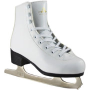 American Athletic Shoe Girls' Leather Lined Figure Skates
