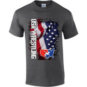 USA Wrestling Adult U.S.A. Flag Short Sleeve Wrestling T-Shirt