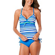 JAG Sport Women's Ombre Stripe X Back Tankini Top
