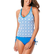 JAG Sport Women's Mod Club Geo X Back Tankini Top