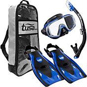 TUSA Sport Adult Visio Tri-Ex Black Series Snorkeling Set