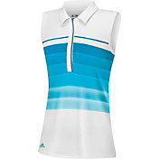 adidas Girls' puremotion Three-Stripes Sleeveless Golf Polo