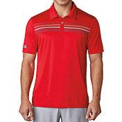 adidas Men's climacool Chest Print Golf Polo