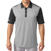 adidas Men's climachill Heather Stripe Golf Polo