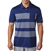 adidas Men's climacool® Engineered Heather Stripe Golf Polo
