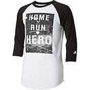 adidas Boys' Home Run Hero ¾ Sleeve Shirt