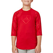 adidas Boys' Phenom Embossed Tech ¾ Sleeve Shirt