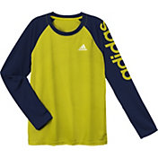 adidas Boys' Linear Performance Raglan Long Sleeve Shirt