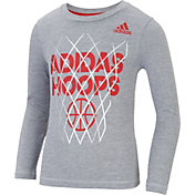 adidas Little Boys' Hoops Long Sleeve Shirt