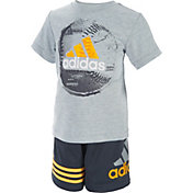 adidas Infant Boys' Defender T-Shirt and Shorts Two-Piece Set