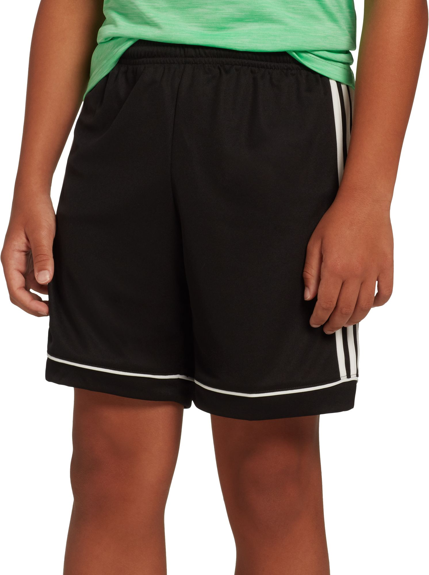 adidas black soccer shorts youth